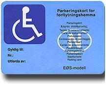 Parkeringskort funksjonshemmede